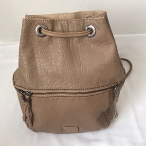 The Sak Leather Medium sized Backpack in Tan